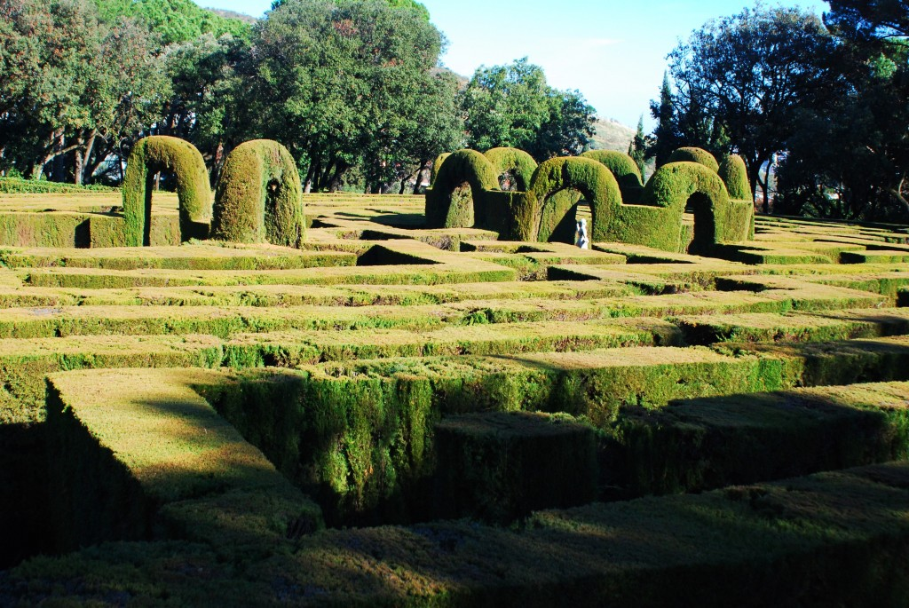 Das Labyrinth im Park Horta